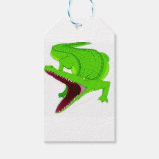 Étiquettes-cadeau bande dessinée d'alligator