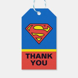 Étiquettes-cadeau Bandes dessinées de C.C | Superman - anniversaire