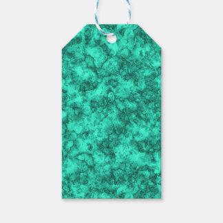 Étiquettes-cadeau Beau marbre de turquoise
