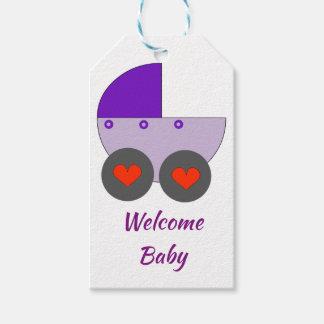 Étiquettes-cadeau bébé bienvenu
