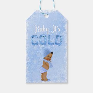 Étiquettes-cadeau Bébé c'est douche ethnique bleue de garçon de