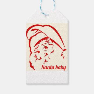 Étiquettes-cadeau Bébé de Père Noël de magasin de fierté
