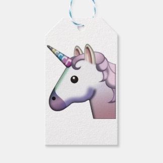 Étiquettes-cadeau Belle licorne Emoji