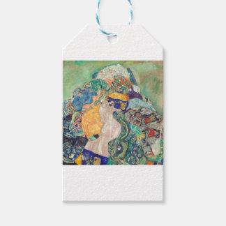 Étiquettes-cadeau Berceau de bébé de Gustav Klimt