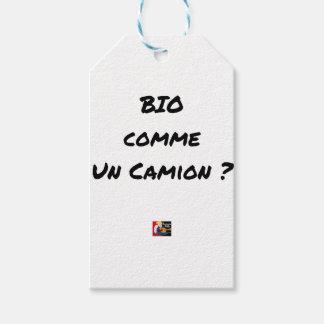Étiquettes-cadeau BIO COMME UN CAMION ? - Jeux de mots