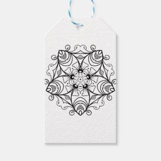 Étiquettes-cadeau Black-And-White-Floral-Design-2