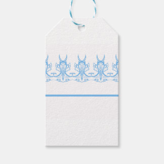 Étiquettes-cadeau bleu