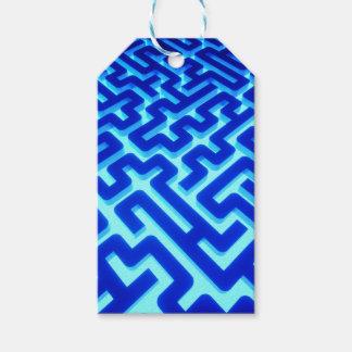 Étiquettes-cadeau Bleu de labyrinthe