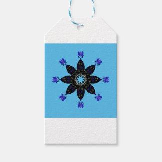 Étiquettes-cadeau Bleu de mandala