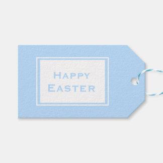 Étiquettes-cadeau Bleu en pastel heureux de Pâques | Minimalistic