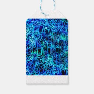 Étiquettes-cadeau Bleus espiègles de partie