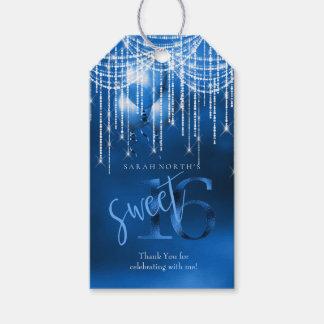 Étiquettes-cadeau Bonbon 16 DK ID473 bleu à lumières et à ballons de