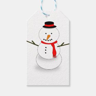 Étiquettes-cadeau Bonhomme de neige de Joyeux Noël