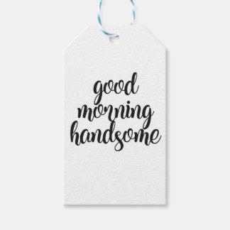 Étiquettes-cadeau Bonjour beau