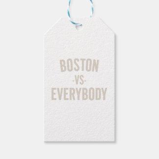Étiquettes-cadeau Boston contre tout le monde