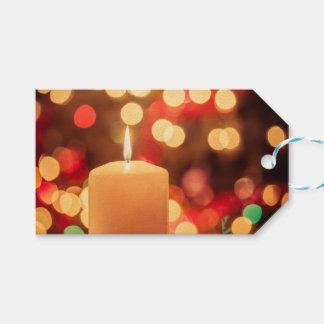 Étiquettes-cadeau Bougie de Noël