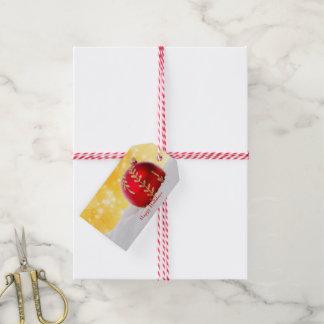 Étiquettes-cadeau Boule de Noël de neige de Bokeh de Noël
