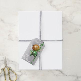 Étiquettes-cadeau Boules de Noël de Bokeh de Noël
