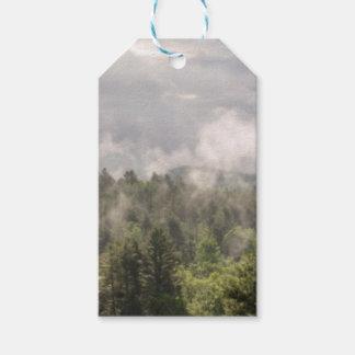 Étiquettes-cadeau Brouillard vert de montagnes