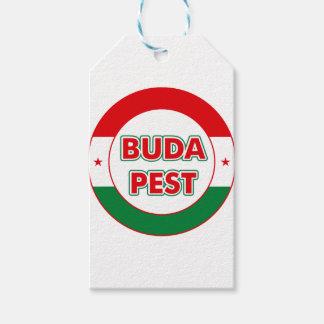 Étiquettes-cadeau Budapest, circle, color