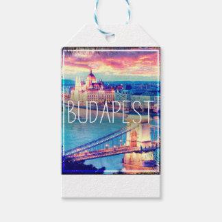 Étiquettes-cadeau Budapest, vintage affiche