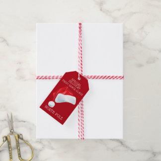 Étiquettes-cadeau Cadeau de Noël de Père Noël de la livraison