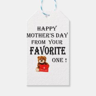 Étiquettes-cadeau Cadeau heureux de jour de mères