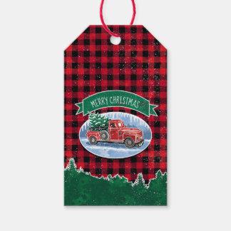 Étiquettes-cadeau Camion de cru de Noël