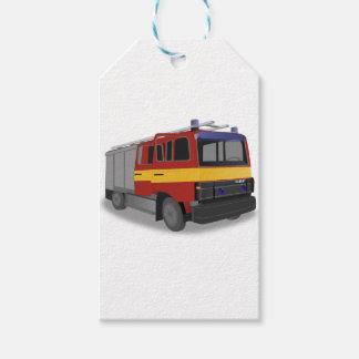 Étiquettes-cadeau Camion de pompiers