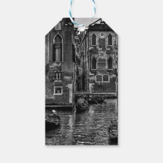 Étiquettes-cadeau Canal de bateau de gondole de Venise Italie