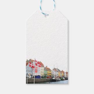 Étiquettes-cadeau Canal de Nyhavn à Copenhague, Danmark