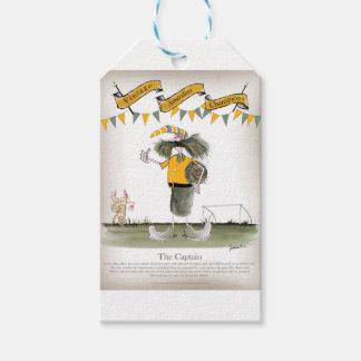 Étiquettes-cadeau capitaine australien du football