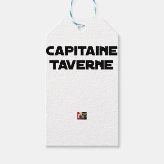 Étiquettes-cadeau CAPITAINE TAVERNE - Jeux de mots - Francois Ville