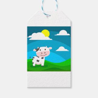 Étiquettes-cadeau Caractère de vache