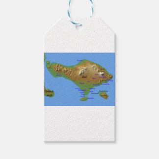 Étiquettes-cadeau Carte de Bali Holliday