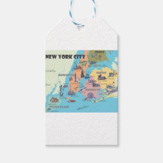 Étiquettes-cadeau Carte de New York