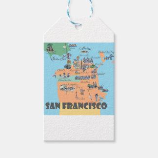 Étiquettes-cadeau Carte de San Francisco la Californie