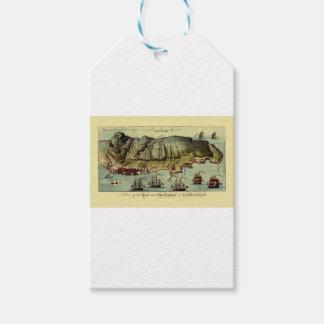 Étiquettes-cadeau Carte du Gibraltar 1765