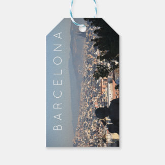 Étiquettes-cadeau Carte postale de Barcelone