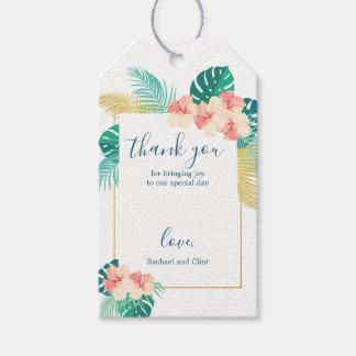 Étiquettes-cadeau Cartes hawaïennes de Merci de mariage de ketmie