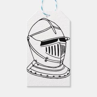 Étiquettes-cadeau Casque de chevalier