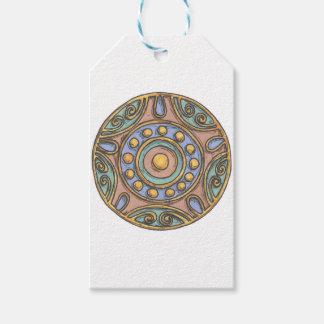 Étiquettes-cadeau Cercles (en pastel)