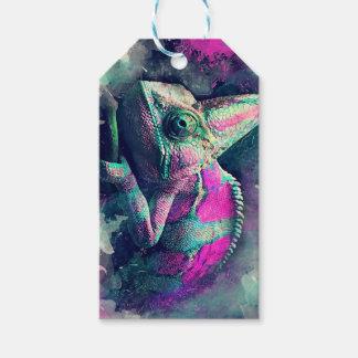 Étiquettes-cadeau #chameleon de caméléon