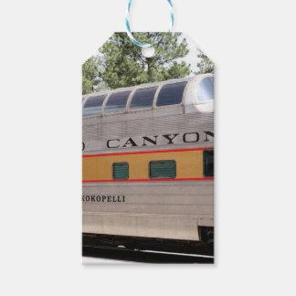 Étiquettes-cadeau Chariot ferroviaire de canyon grand, Arizona