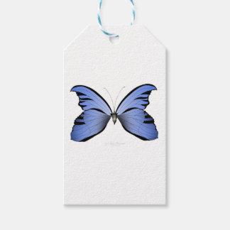 Étiquettes-cadeau Chasseur bleu d'azur du papillon 2
