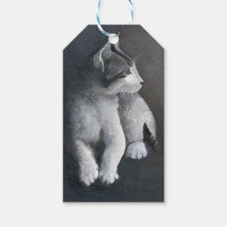 Étiquettes-cadeau Chaton tigré