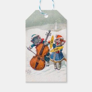 Étiquettes-cadeau Chats vintages de Noël, Arthur Thiele