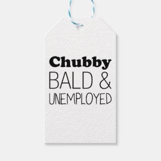 Étiquettes-cadeau Chauve et sans emploi potelés