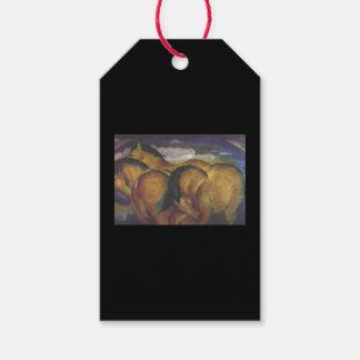 Étiquettes-cadeau CHEVAUX JAUNES de FRANZ MARC d'étiquette de cadeau