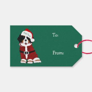 Étiquettes-cadeau Chien fait sur commande de vacances de montagne de